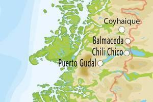 Kaart van Zuid Chili