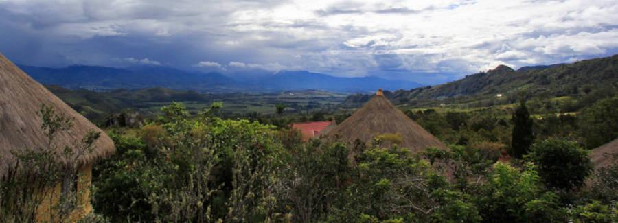 Uitzicht vanaf Baliem Valley Resort