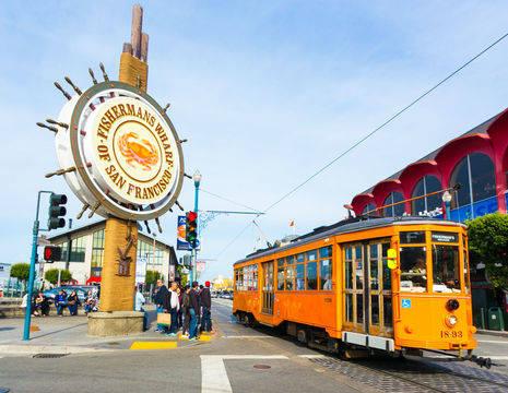 Amerika-San-Francisco-Fishermans-Wharf-Tram