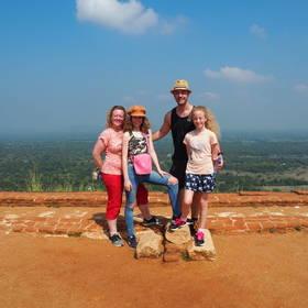Geweldig uitzicht bij Sigiriya