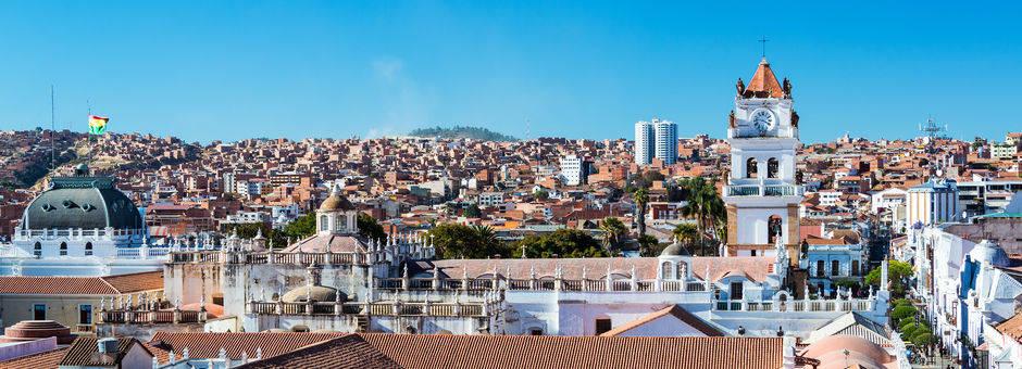 Uitzicht over de stad Sucre - Bolivia