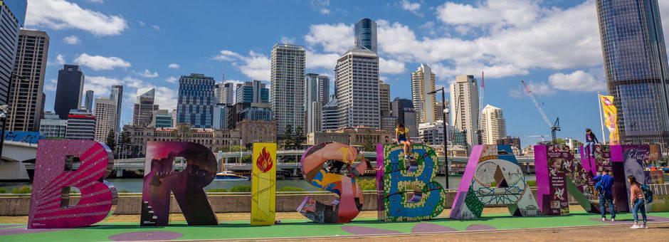 Australie-Brisbane-stad-sign