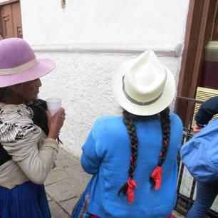 Glaasje roze Horchata drinken in Cuenca