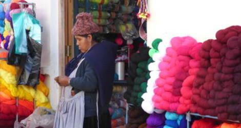 Winkels van de lokale bevolking in Tarabuco - Bolivia
