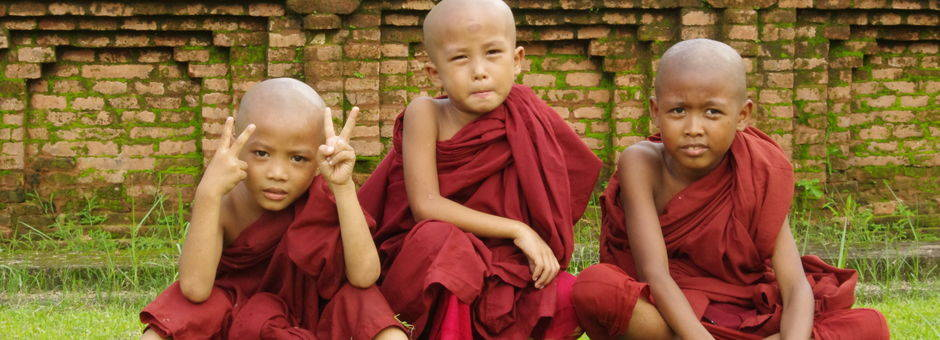 Myanmar-Mandalay-monnik kindjes(13)