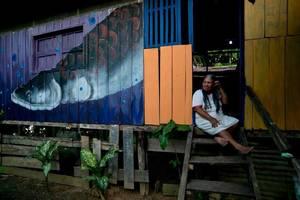 Longhouse in de jungle