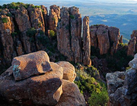De verlaten vallei in de omgeving van Karoo, Zuid-Afrika