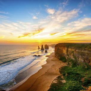 Australie-Great-Ocean-Road-twaalf-apostelen-zonsondergang