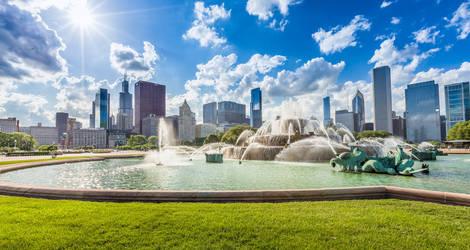 Amerika-Chicago-Buckingham-Fontein