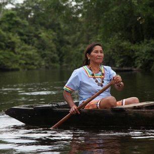 Ecuador-Amazone-Kichwa-stam-vrouw