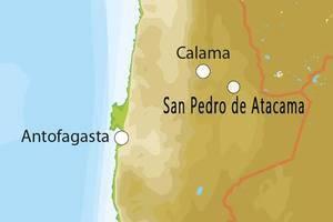 Kaart van Noord-Chili