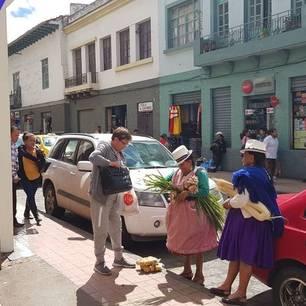 Een lokale markt in Cuenca