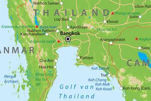 De kaart van Centraal-Thailand