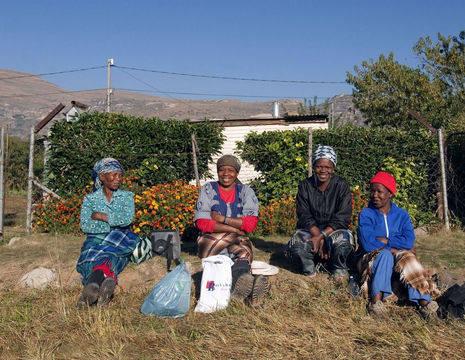 Even uitrusten na het harde werken, Clarens, Zuid-Afrika