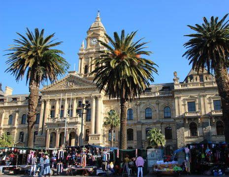 Het mooie stadhuis van Kaapstad, Zuid-Afrika