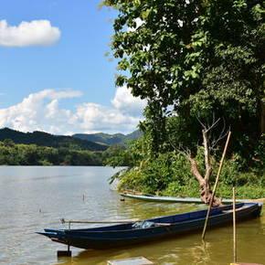 Uitzichten over de Nam Ou Rivier vanuit het dorp Ban Don Khoun, Nong Khiow - Laos
