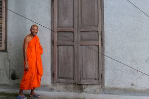 Cambodja-Battambang-Monnik