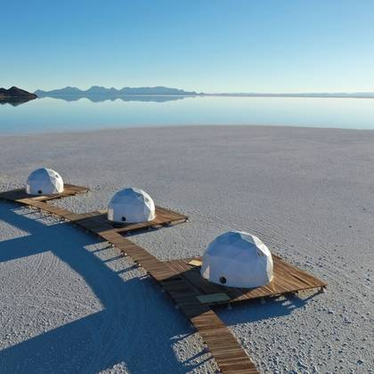 Uniek verblijf op de zoutvlakte van Uyuni