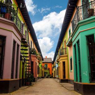 Colombia-Bogota-kleurrijke-straatjes