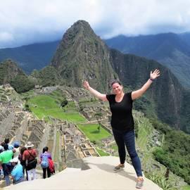 Eva bij Machu Picchu, Peru