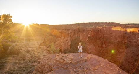 Australie-Red-Center-Kings-Canyon-zonsondergang