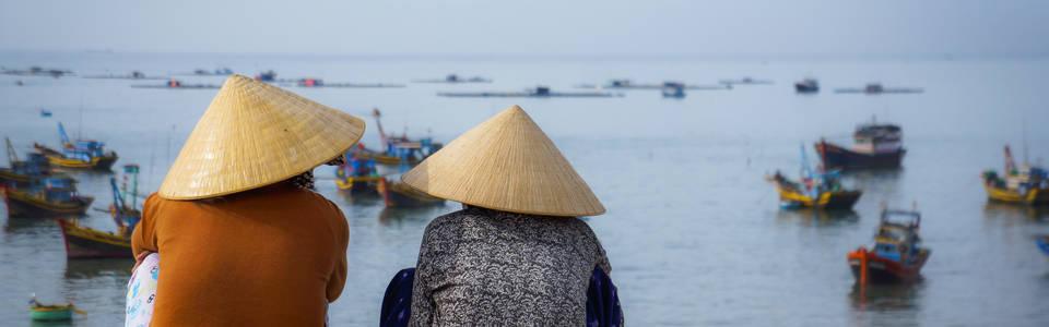 Vietnamezen aan zee
