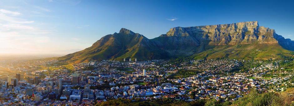 De tafeberg in  Kaapstad, Zuid-Afrika