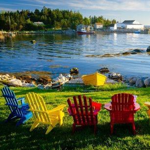 Rustieke baai in Nova Scotia