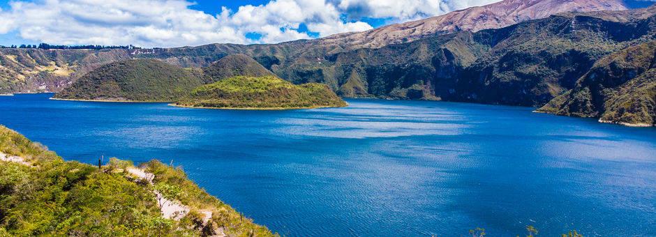 Het Cuicocha meer nabij Otavalo