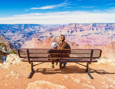 Amerika-Grand-Canyon-Uitzicht-Family