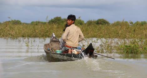 Cambodja-Battambang-Bootje