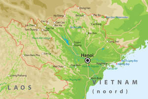 De kaart van Noord-Vietnam