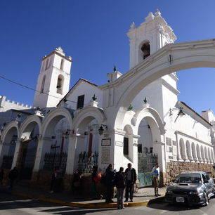 Koloniale-gebouwen-in-Sucre-Bolivia