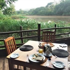 Ontbijten bij Milwane Wildlife Sanctuary