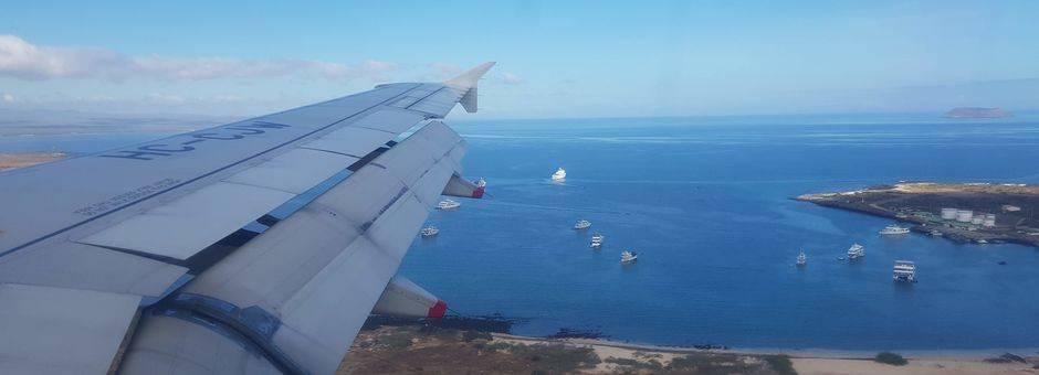een laatste blik op de eilanden verlaat u de Galapagos