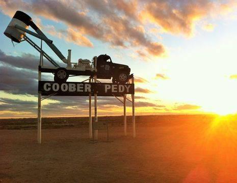 Australie-Coober-Pedy-aankomst