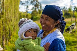 In een dorp nabij Otavalo, Ecuador
