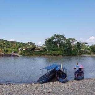 de Napo rivier in het Upper Amazone gebied