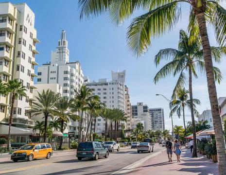 Amerika-Miami-Straatbeeld