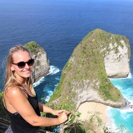 Lisanne in Nusa Penida, Bali