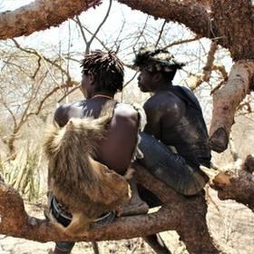 Hadzabe stam in Tanzania