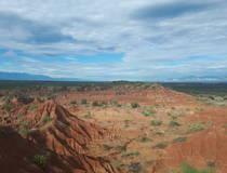 Bizarre rotsen in de woestijn