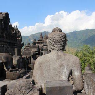Java-Borobudur-buddha, stupas en landschap_2