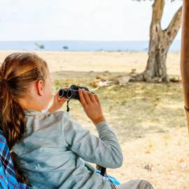 Tiener op safari in Zuid-Afrika