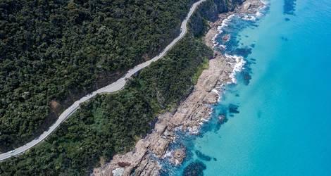 De autoweg langs Great Ocean Road