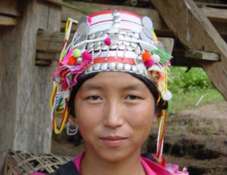 Laos-Bergvolkeren-vrouw