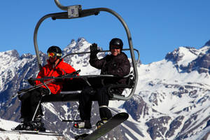 Sneeuw in Valle Nevado
