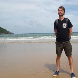 Rene op strand