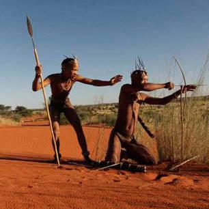 Kalahari Bushmen hunting