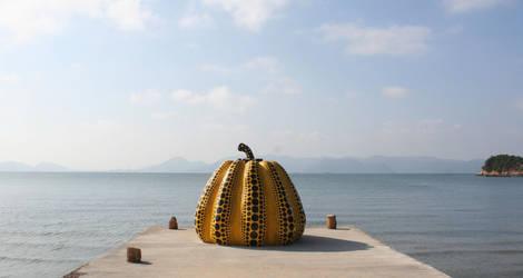 Kunst en uitzicht op Naoshima - Japan